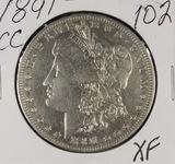 1891-CC MORGAN DOLLAR - XF
