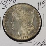 1878-S MORGAN DOLLAR - XF/AU
