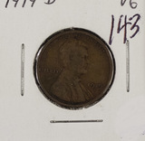 LOT OF 3 LINCOLN CENT, 1919-D, 1919-s, 1930, 1 - 1883 NC LIBERTY