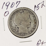 1907-O BARBER HALF DOLLAR - G+