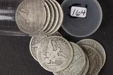 LOT OF 12 ( $6 FACE) BARBER HALF DOLLARS - GOOD