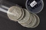 LOT OF 10 ($5.00 FACE) BARBER HALF DOLLAR - AG/G