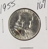 1955-P FRANKLIN HALF DOLLAR - UNC - FULL BELL LINES
