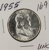 1955-P FRANKLIN HALF DOLLAR - UNC