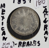1859 - MEXICO - 2 REALES - SILVER - KM #374.8