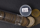1- ROLL (50 COINS) 1900'S INDIAN HEAD CENTS