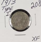 1913 - TYPE I BUFFALO NICKELS - XF