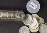1 - ROLL (50 COINS) SILVER ROOSEVELT DIMES