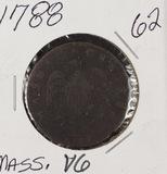 1788 - MASSACHUSETT'S CENT - VG