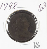 1798 - DRAPPED BUST LARGE CENT - VG