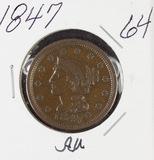 1847 - BRAIDED HAIR LARGE CENT - AU