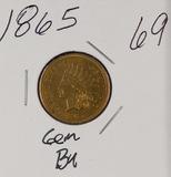 1865 - INDIAN HEAD CENT - GEM BU
