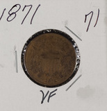 1871 - TWO CENT PIECE - VF