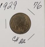 1929 - BUFFALO NICKEL - CH AU
