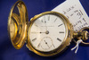 ELGIN WATCH COMPANY - JIM BOSS BOX HINGED CASE, 14 K GOLD FILLED WITH CASE PAPERS