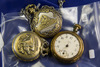 LOT OF 3 SCRAP POCKET WATCHES - 2 MODERN, 1 ANTIQUE (JEROME)