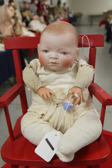 "16"" German Bisque Bye-lo Baby Doll Damaged"