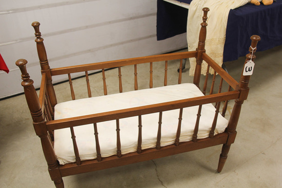 """35"""" Walnut Child Baby Bed, LOCAL PICK UP ONLY"""
