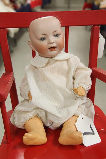 "15"" German Bisque JD Kestner Bent Limb Baby"