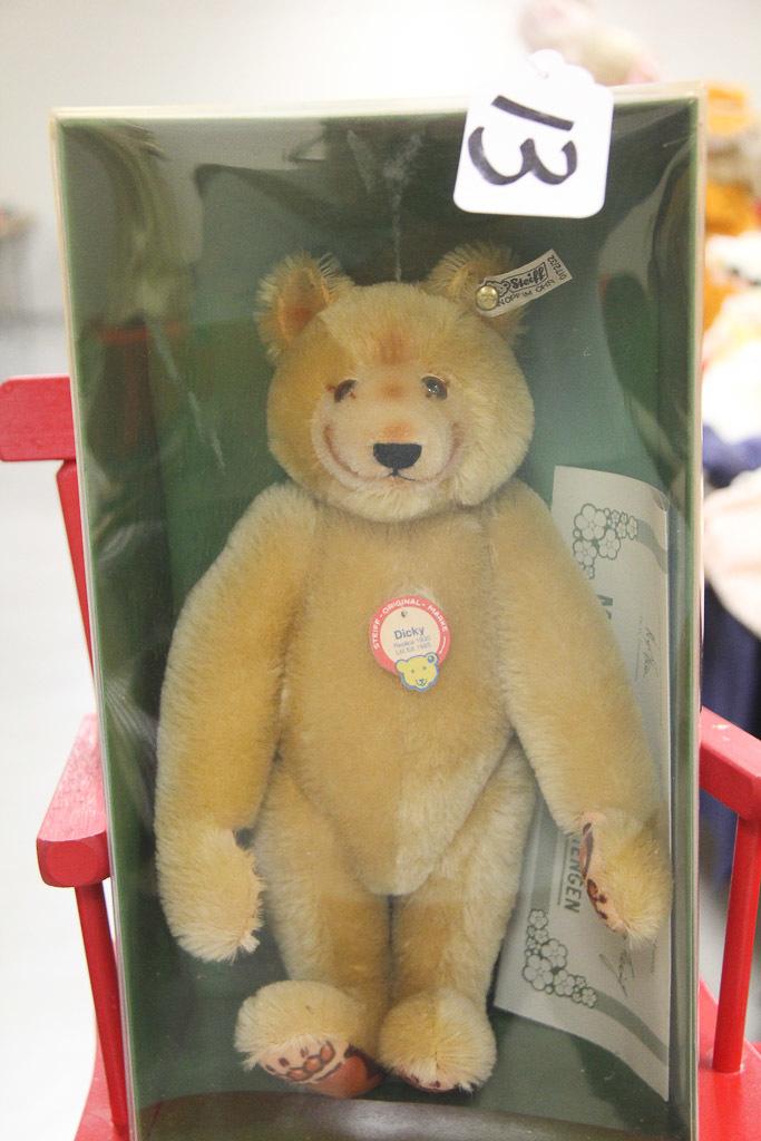 German Steiff Dicky Bear in Box