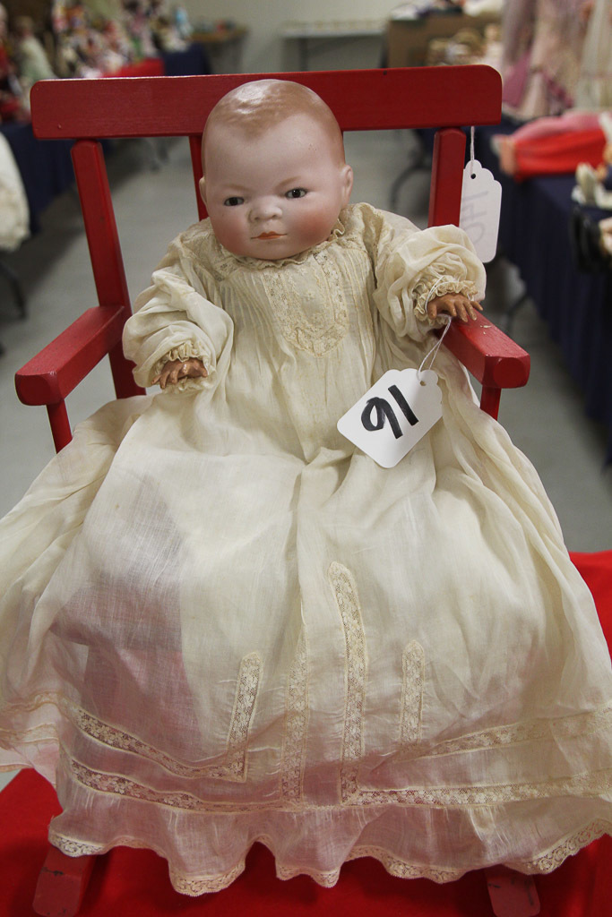 "14"" German Bisque Bye-lo Baby Brown Eye Doll"