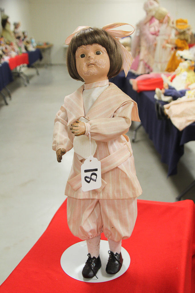"22"" Wooden Jointed Schoenhut USA Doll Damage"
