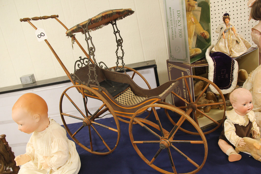 Antique Wood Doll Stroller, LOCAL PICK  UP ONLY