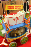 German Steiff Circus Wagon with 2 bears