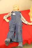 Boy in Overalls Mannequin, Damages Left Arm,