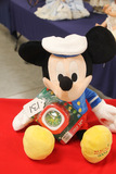 Stuffed Mickey With Clock
