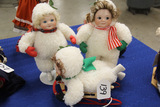 4 Piece Set Bisque Snow Babies
