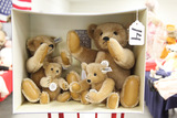 German Steiff Margret Strong 4 Piece Bear Set