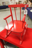 Red Painted Childs Rocker, LOCAL PICK UP ONLY
