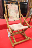 Antique Wood Folding Doll Rocker