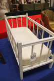White Painted Wood Doll Bed