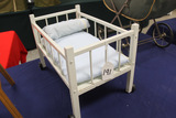 Painted White Doll Bed