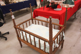Antique Walnut Childs Baby Bed