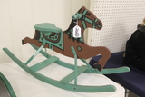Wood and Metal Childs Rocking Horse