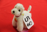 Small Jointed Steiff Poodle, Whitie