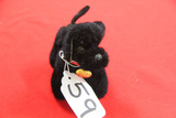 Small Jointed Steiff Poodle, Blackie