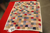 Hand Pieced Doll Quilt