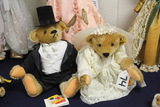 German Steiff Large Bride and Groom, Bear Set