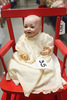 "13"" German Bisque JD Kestner Bent Limb Baby"