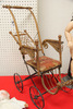 Antique Doll Stroller Wooden and Wicker, LOCAL