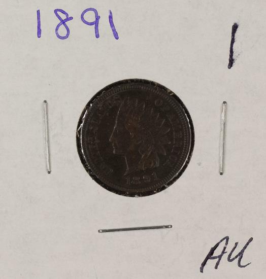 1891 - INDIAN HEAD CENT - AU