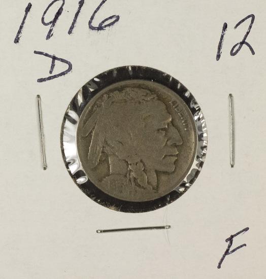 1916-D BUFFALO NICKEL - F
