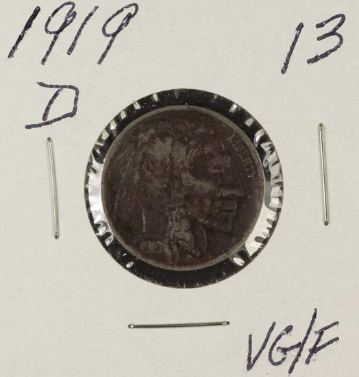 1919-D BUFFALO NICKEL - VG/F