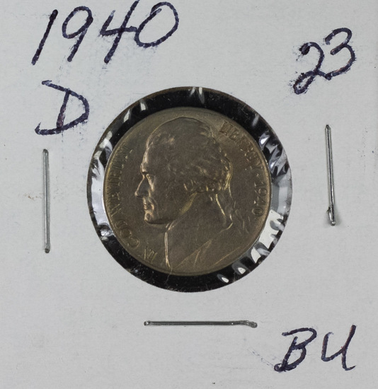 1940-D JEFFERSON NICKEL - BU