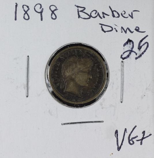 1898 - BARBER DIME - VG+