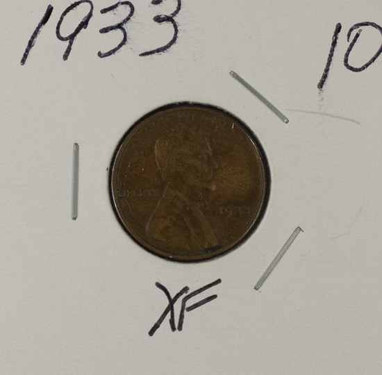 1933 - LINCOLN CENT - XF